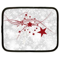 Christmas Star Snowflake Netbook Case (xl)