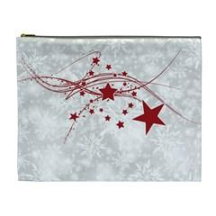 Christmas Star Snowflake Cosmetic Bag (xl)