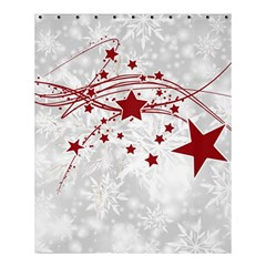 Christmas Star Snowflake Shower Curtain 60  X 72  (medium)