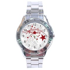 Christmas Star Snowflake Stainless Steel Analogue Watch