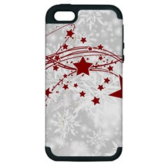Christmas Star Snowflake Apple Iphone 5 Hardshell Case (pc+silicone)
