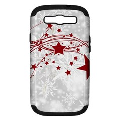 Christmas Star Snowflake Samsung Galaxy S Iii Hardshell Case (pc+silicone)