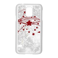 Christmas Star Snowflake Samsung Galaxy S5 Case (white)