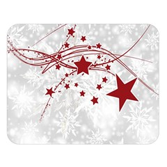 Christmas Star Snowflake Double Sided Flano Blanket (large)