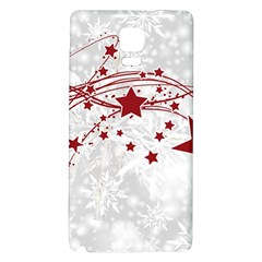 Christmas Star Snowflake Galaxy Note 4 Back Case