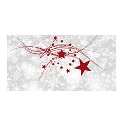 Christmas Star Snowflake Satin Wrap