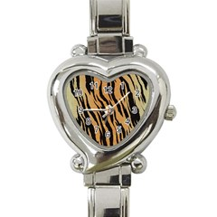 Animal Tiger Seamless Pattern Texture Background Heart Italian Charm Watch