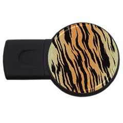 Animal Tiger Seamless Pattern Texture Background Usb Flash Drive Round (4 Gb)