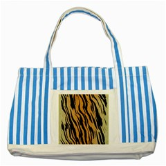 Animal Tiger Seamless Pattern Texture Background Striped Blue Tote Bag