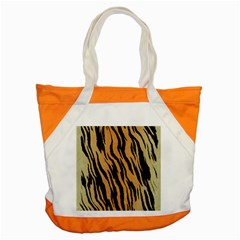 Animal Tiger Seamless Pattern Texture Background Accent Tote Bag