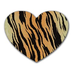 Animal Tiger Seamless Pattern Texture Background Heart Mousepads