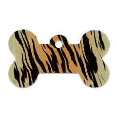 Animal Tiger Seamless Pattern Texture Background Dog Tag Bone (two Sides)