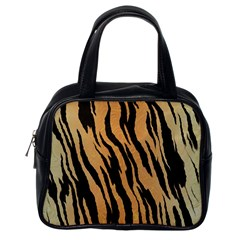 Animal Tiger Seamless Pattern Texture Background Classic Handbags (one Side)