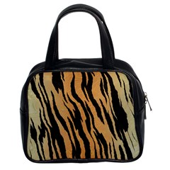 Animal Tiger Seamless Pattern Texture Background Classic Handbags (2 Sides)