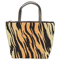 Animal Tiger Seamless Pattern Texture Background Bucket Bags