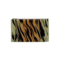 Animal Tiger Seamless Pattern Texture Background Cosmetic Bag (small)