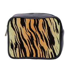 Animal Tiger Seamless Pattern Texture Background Mini Toiletries Bag 2 Side