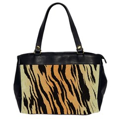 Animal Tiger Seamless Pattern Texture Background Office Handbags (2 Sides)