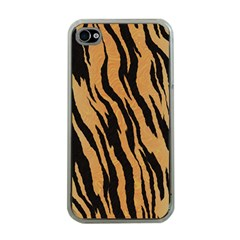 Animal Tiger Seamless Pattern Texture Background Apple Iphone 4 Case (clear)