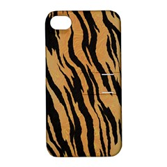 Animal Tiger Seamless Pattern Texture Background Apple Iphone 4/4s Hardshell Case With Stand