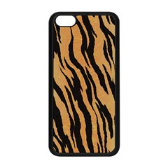 Animal Tiger Seamless Pattern Texture Background Apple Iphone 5c Seamless Case (black)
