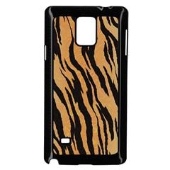 Animal Tiger Seamless Pattern Texture Background Samsung Galaxy Note 4 Case (black)