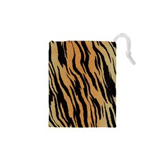 Animal Tiger Seamless Pattern Texture Background Drawstring Pouches (xs)