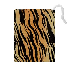 Animal Tiger Seamless Pattern Texture Background Drawstring Pouches (extra Large)