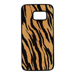 Animal Tiger Seamless Pattern Texture Background Samsung Galaxy S7 Black Seamless Case