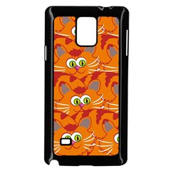 Animals Pet Cats Mammal Cartoon Samsung Galaxy Note 4 Case (black)