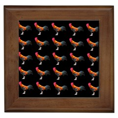 Background Pattern Chicken Fowl Framed Tiles