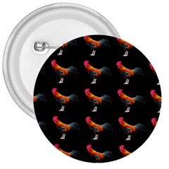 Background Pattern Chicken Fowl 3  Buttons