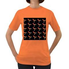 Background Pattern Chicken Fowl Women s Dark T Shirt
