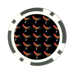 Background Pattern Chicken Fowl Poker Chip Card Guard (10 Pack)