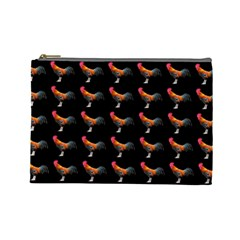 Background Pattern Chicken Fowl Cosmetic Bag (large)