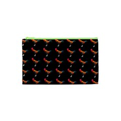 Background Pattern Chicken Fowl Cosmetic Bag (xs)