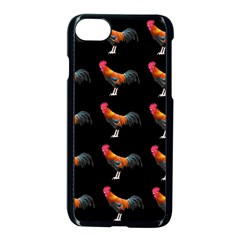 Background Pattern Chicken Fowl Apple Iphone 8 Seamless Case (black)