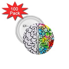 Brain Mind Psychology Idea Hearts 1 75  Buttons (100 Pack)
