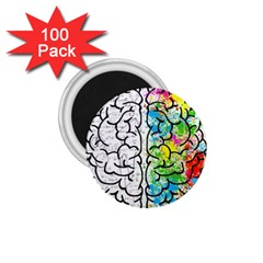 Brain Mind Psychology Idea Hearts 1 75  Magnets (100 Pack)