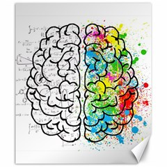 Brain Mind Psychology Idea Hearts Canvas 20  X 24