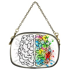 Brain Mind Psychology Idea Hearts Chain Purses (two Sides)