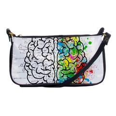Brain Mind Psychology Idea Hearts Shoulder Clutch Bags