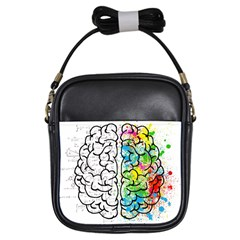 Brain Mind Psychology Idea Hearts Girls Sling Bags