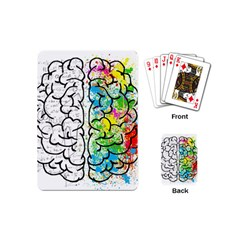 Brain Mind Psychology Idea Hearts Playing Cards (mini)