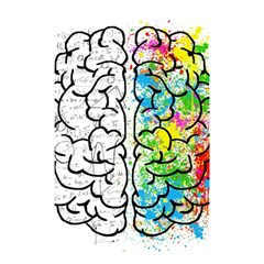 Brain Mind Psychology Idea Hearts Shower Curtain 48  X 72  (small)