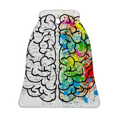 Brain Mind Psychology Idea Hearts Bell Ornament (two Sides)