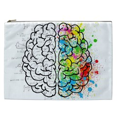 Brain Mind Psychology Idea Hearts Cosmetic Bag (xxl)