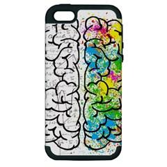 Brain Mind Psychology Idea Hearts Apple Iphone 5 Hardshell Case (pc+silicone)
