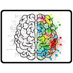 Brain Mind Psychology Idea Hearts Double Sided Fleece Blanket (large)