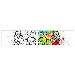 Brain Mind Psychology Idea Hearts Small Flano Scarf